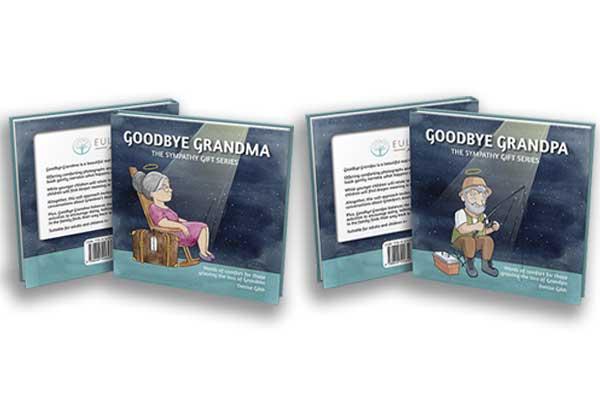 Goodbye Grandma and Grandpa book covers