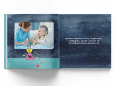 Inside pages of Goodbye Grandma by Denise Gibb