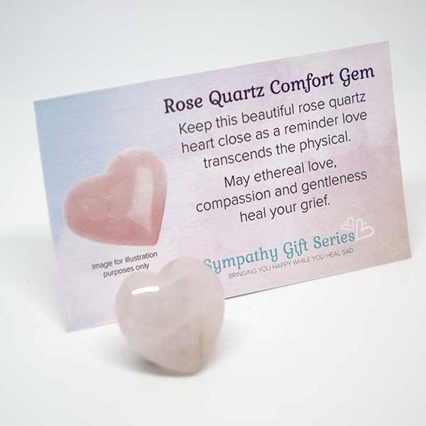 Grief Gift Set Rose Quartz Heart