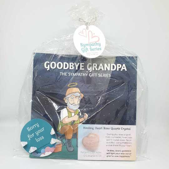 Grandpa Loss – Rose Quartz Heart Crystal